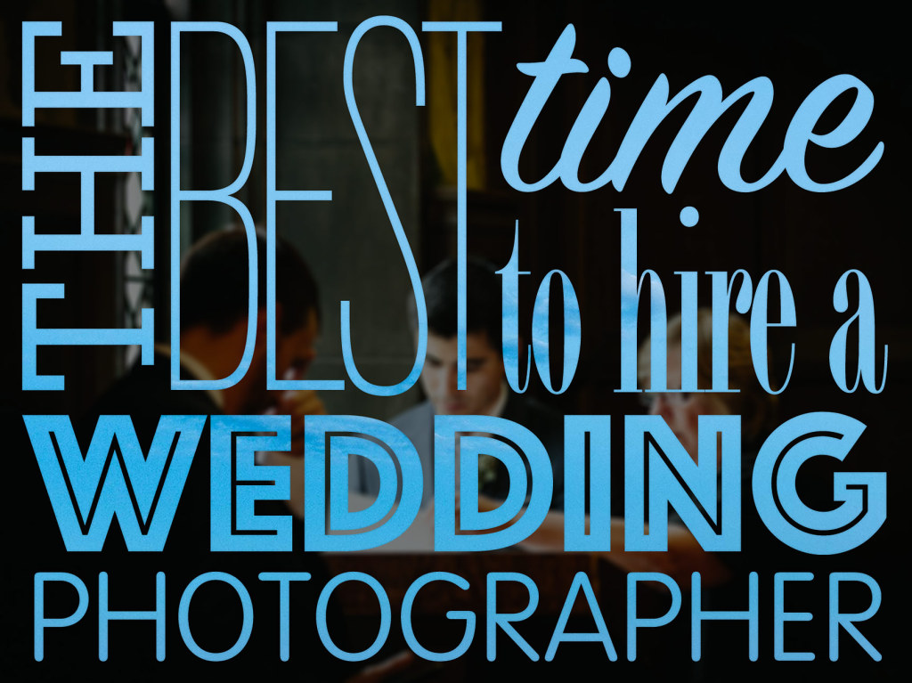 best time hire wedding photography