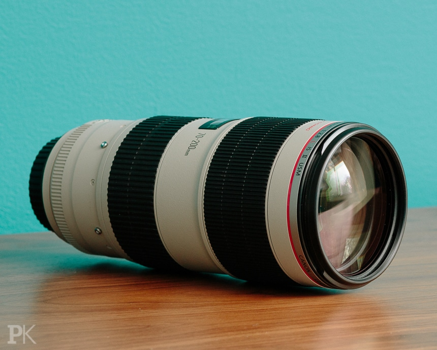 wedding photography equipment canon 70-200mm f2.8 IS