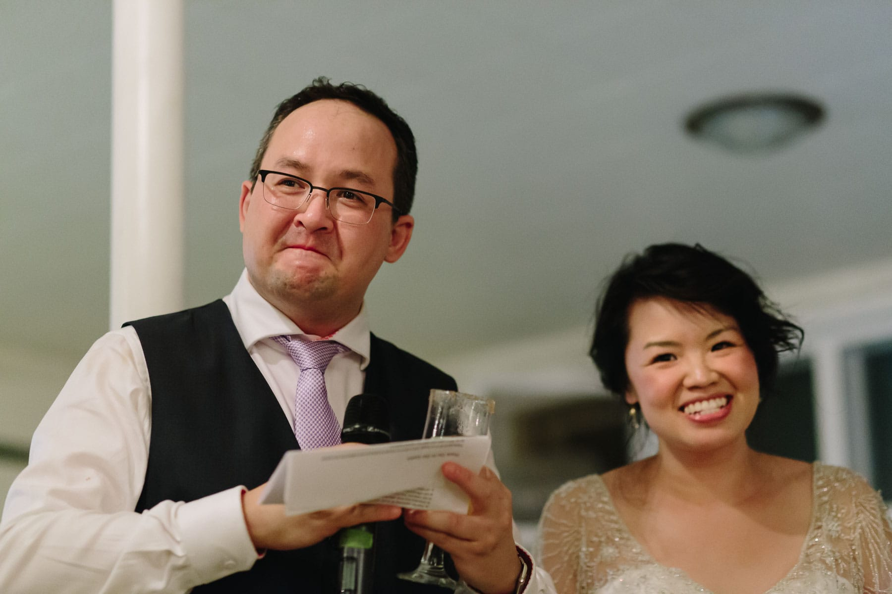 Bride and groom speech, Artscape, Gibraltar Point, Toronto Island wedding