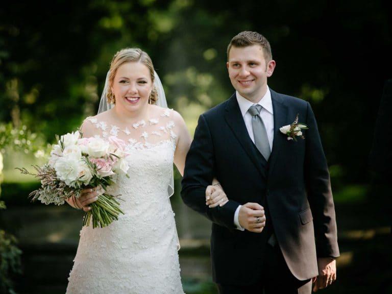 testimonial - couple walking down aisle