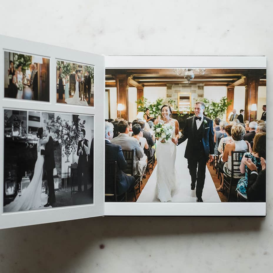 Premium pagemount duo wedding photography album by Queensberry.