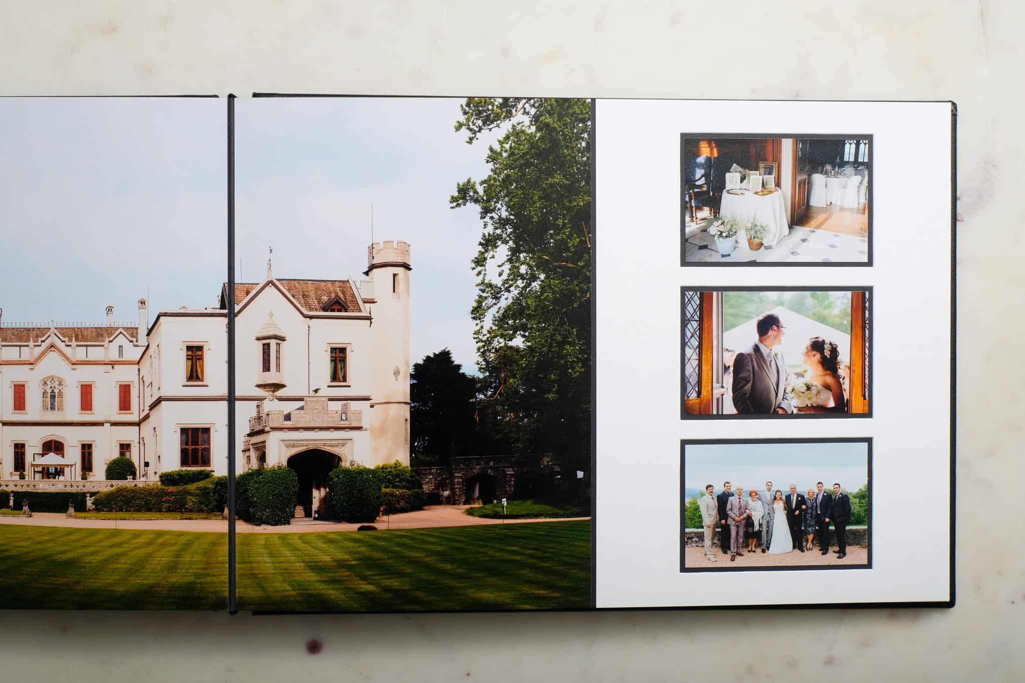 Queensberry duo wedding photo albums.